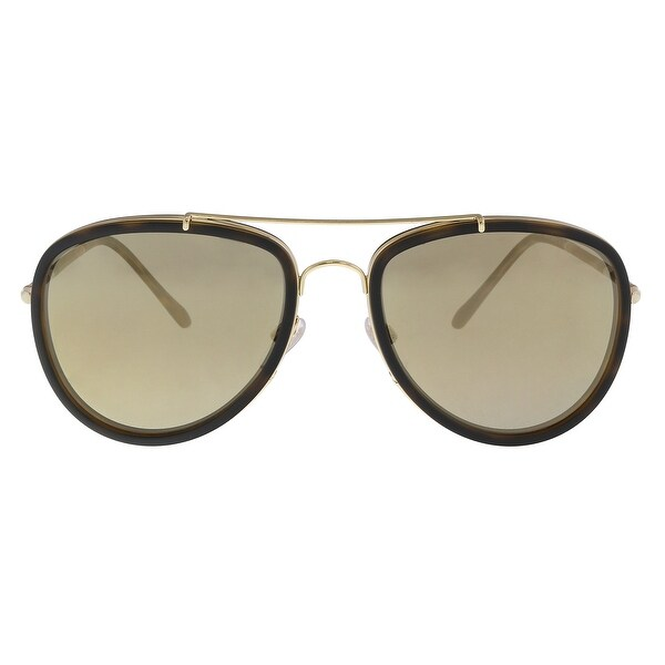 3ef18337c0f Burberry BE3090Q 10525A Brushed Gold  Dark Havana Aviator Sunglasses -  58-18-145