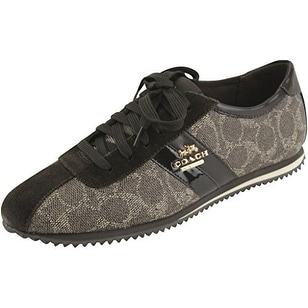Coach Womens Ivy Signature Low Top Lace Up Fashion Sneakers
