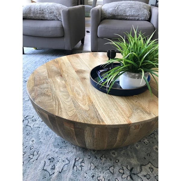 Fabulous Shop Mango Wood Coffee Table In Round Shape Dark Brown Interior Design Ideas Gentotryabchikinfo
