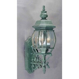 """Volume Lighting V8760 3 Light 23.5"""" Height Outdoor Wall Sconce with Clear Beveled Glass"""