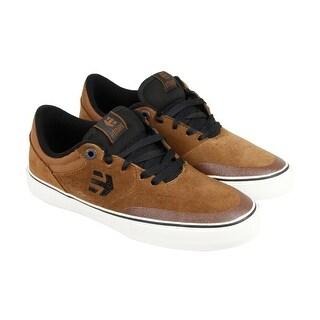 Etnies Marana Vulc Mens Brown Canvas Lace Up Sneakers Shoes