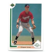 Chipper Jones 1991 Upper Deck Atlanta Braves Baseball Top Prospect Rookie Trading Card 55  Set of 2
