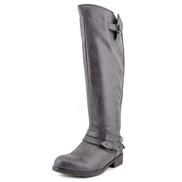 Madden Girl Caanyon Wide Calf Women Round Toe Synthetic Gray Knee High Boot