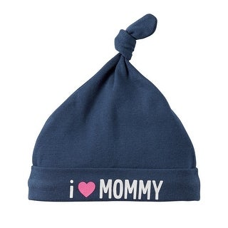 Carter's Baby Girls' I Love Mommy Beanie, Blue, One Size