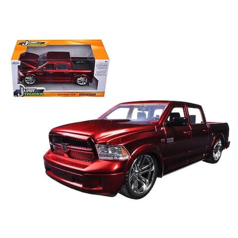 2014 Dodge Ram 1500 Pick Up Truck Red Custom Edition 1/24 Diecast Model by Jada