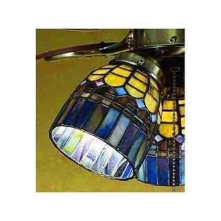 Meyda Tiffany 27466 Stained Glass / Tiffany Fan Light Kit Glassware from the Tiffany Candice Collection