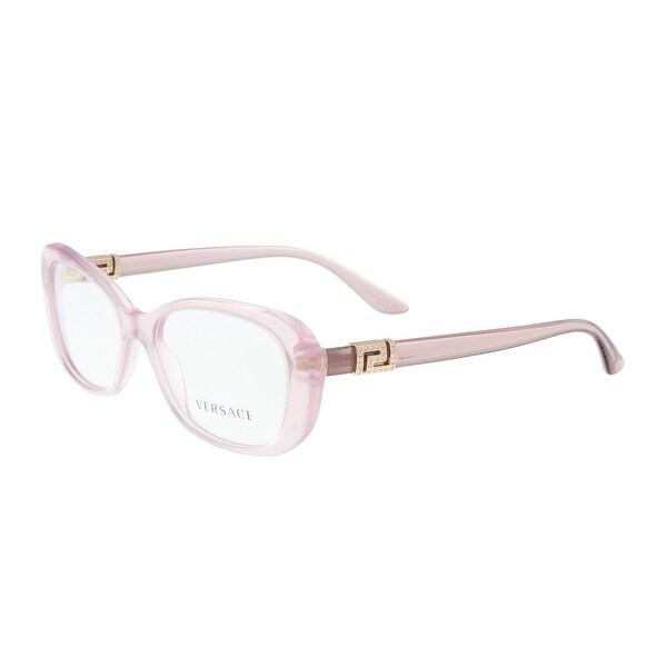 892e444e4c4c Versace VE3234B 5223 Transparent Lilac Rectangle Optical Frames - 51-16-140