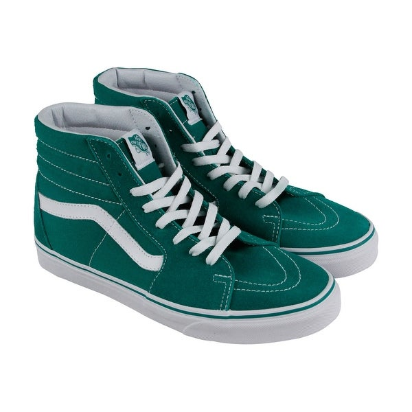 123d5dac2564 Shop Vans Sk8 Hi Womens Green Suede High Top Lace Up Sneakers Shoes ...