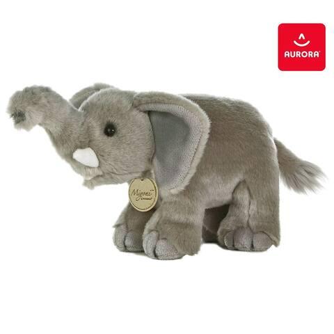 Warp Gadgets Safari Bundle - Aurora - Miyoni - 11 inch Elephant and 11 inch Zebra (2 Items) - Medium