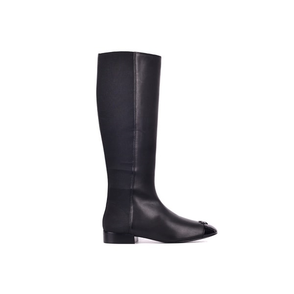 4bf3b32cb26 Shop Tory Burch Women's Black Patent Leather Jolie Stretch Boots ...