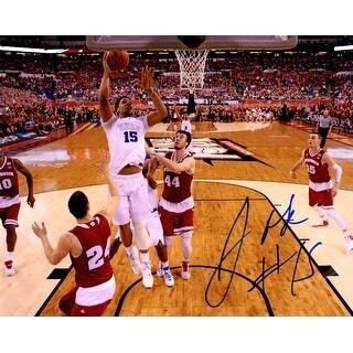 Jahlil Okafor Signed Duke Championship Game Lay Up 8x10 Photo