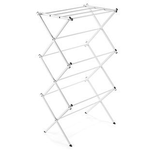Polder 8316P-90 Compact Accordion Clothes Drying Rack, White