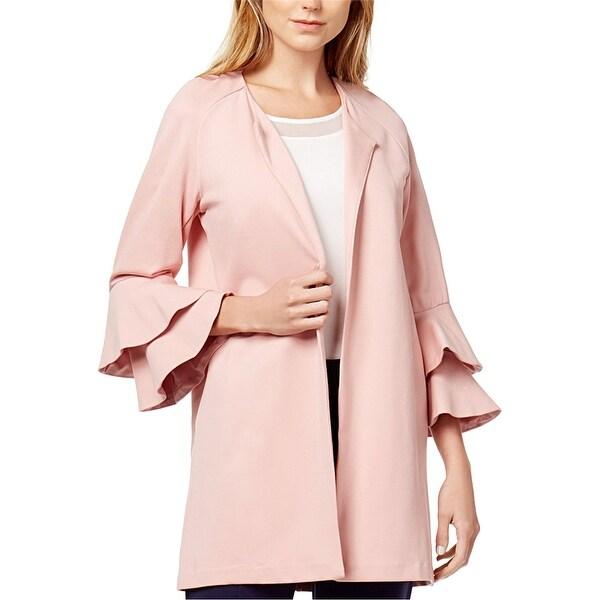 Kensie Womens Bell Sleeve Ponte Jacket. Opens flyout.