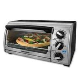 Black & Decker TO1322SDB Toaster Oven Broiler, 4 Slice, Black/Chrome
