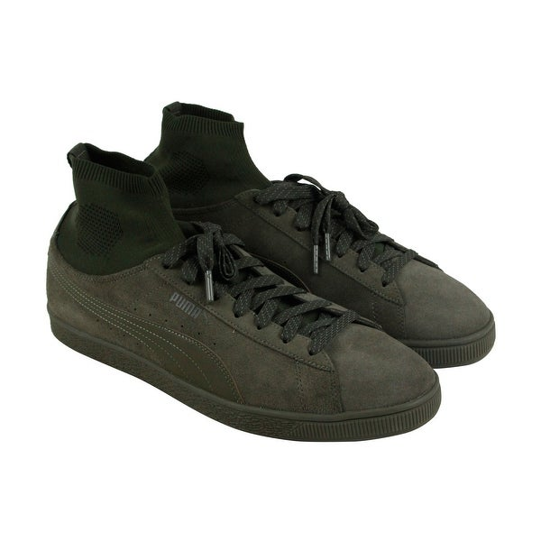 Shop Puma Classic Sock Mens Green Suede Lace Up Sneakers