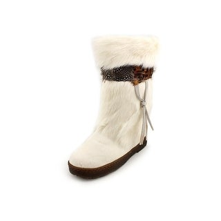 Bearpaw Kola II Women Round Toe Suede White Snow Boot