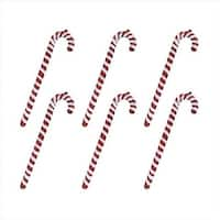 9 in. Red And White Shatterproof Candy Cane Christmas Ornaments,