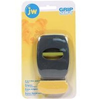 Jw-Dog-cat-aquatic-Grip Soft 2-in-1 Fine And Flea Combs- Gray-yellow