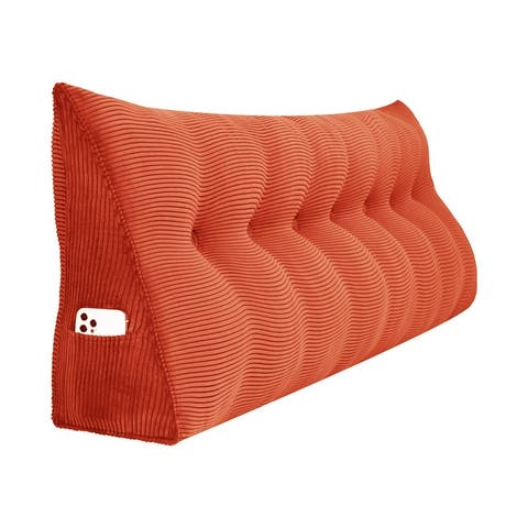 Multi-purpose Tufted Fabric Headboard Wedge Upholstery Removable