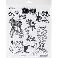 """Dyan Reaveley's Dylusions Cling Stamp Collections 8.5""""X7""""-Plenty More Fish In The Sea"""