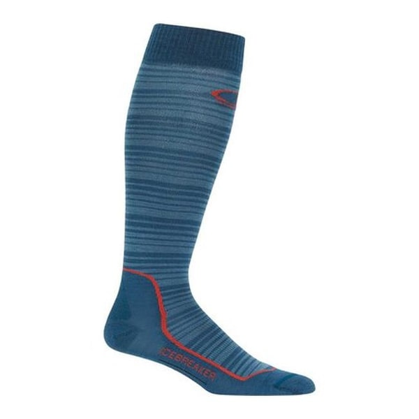 3063878b4a Shop Icebreaker Men's Ski+ Ultra Light Over the Calf Horizons Sock Prussian  Blue/Granite Blue/Horizons - Free Shipping On Orders Over $45 - Overstock -  ...