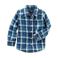 OshKosh B'gosh Little Boys' Plaid Button Front Oxford Shirt, 4-Kids