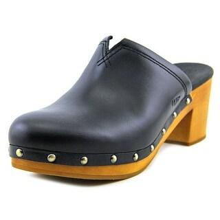Ugg Australia Kay Women Round Toe Leather Mules (Option: Work Clogs)