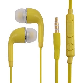 3.5mm Stereo In-Ear Earphones Headphones Headsets Earbuds Green Yellow