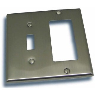 """Residential Essentials 10825 4.5"""" X 4.5"""" Double Toggle and Rocker Switch Plate Featuring a Rustic / Country Theme"""