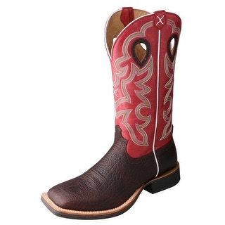 Twisted X Western Boots Mens Ruff Stock Oiled Cognac Red MRS0041