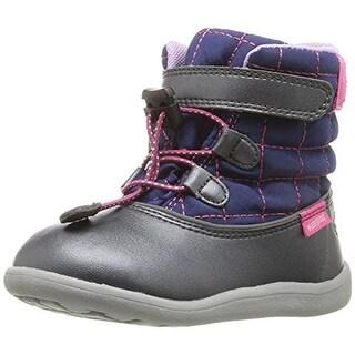 See Kai Run Girls Abby Waterproof Boots Metallic - 3 medium (b,m)