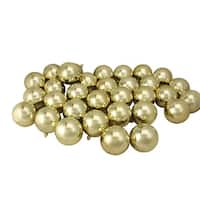 "32ct Champagne Gold Shatterproof Shiny Christmas Ball Ornaments 3.25"" (80mm)"