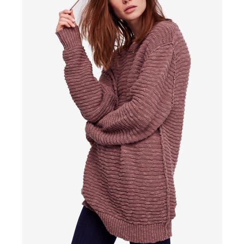 Free People Women's Sweater Purple Size Medium M Pullover Cotton