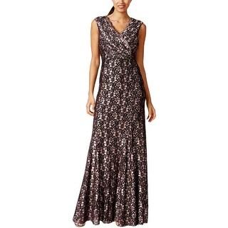 Tahari ASL Womens Lenny Semi-Formal Dress Glitter Lace - 8