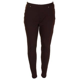 Style & Co Rich Truffle Twill Mid Rise Comfort Waist Pull-On Leggings M