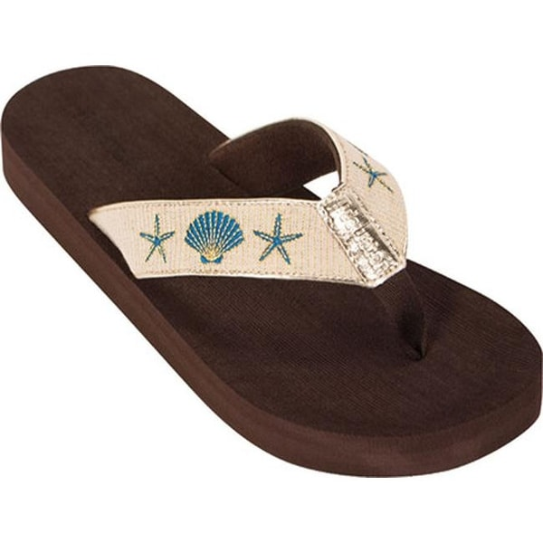 00ab3bb27037b Shop Tidewater Sandals Women s Shells Flip Flop Gold - Free Shipping On  Orders Over  45 - Overstock - 20871051
