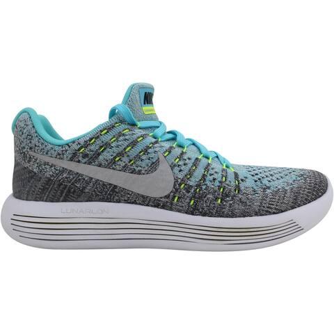Nike Lunarepic Low Flyknit 2 Wolf Grey/Metallic Silver 869989-001 Grade-School