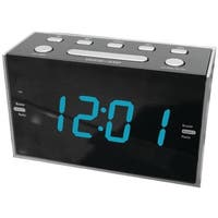 1.2 in. Jumbo Digit Dual Alarm Clock Radio with Blue LED
