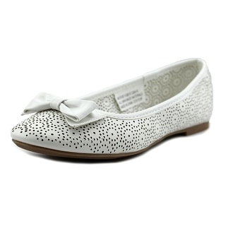 Rampage Girls Evie Round Toe Leather Ballet Flats