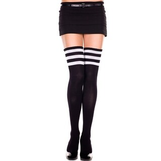 Athletic Striped Thigh Highs, Striped Thigh High Socks
