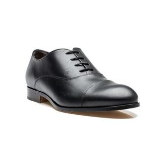 Tod's Men's Leather Francesina Fondo Cuoio PC Black