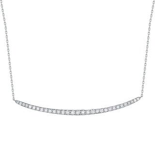 Smiling Rocks 0.53Ct G-H/VS1 Lab Grown Diamond Smile Necklace