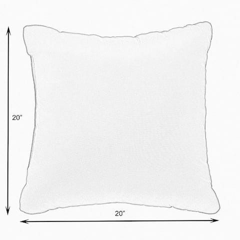 Coral Knife Edge Square Pillows (Set of 2) by Havenside Home