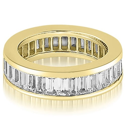 4.00 cttw. 14K Yellow Gold Baguette Diamond Eternity Ring