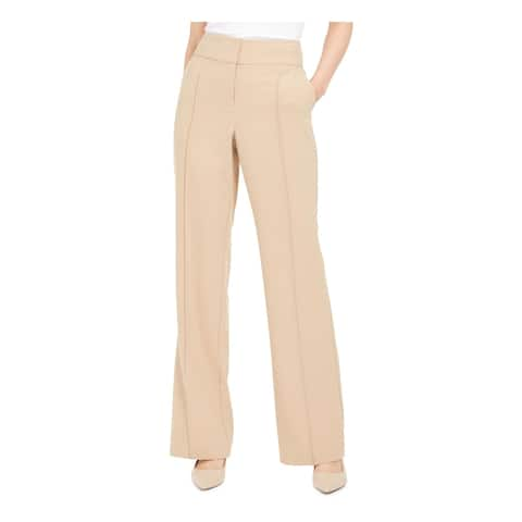 ALFANI Womens Pink Solid Boot Cut Pants Size 14