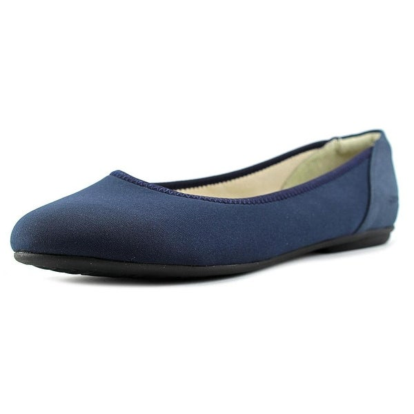 Stretchies Faye Women W Round Toe Synthetic Blue Flats