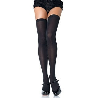 Opaque Nylon Thigh High Stockings, See-through Multicolor Stockings (Option: Green)