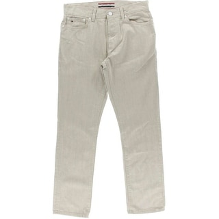 Tommy Hilfiger Mens Leather Patch Classic-Rise Straight Leg Jeans - 30/30