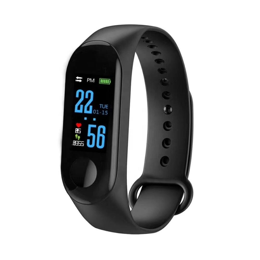 M3 Fitness Tracker & SmartWatch - SMS/Call Alerts - Heart Rate - Blood Pressure - Pedometer - Sports Activity Monitor - N/A (Black)