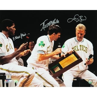 Larry Bird  Kevin McHale  Robert Parish Triple Boston Celtics Bird Retirement Night 16x20 Photo
